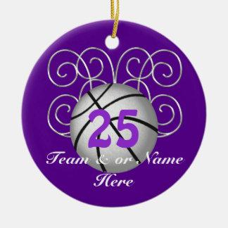 Hübsche personalisierte lila keramik ornament