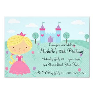Hübsche Prinzessin Birthday Party Personalisierte Ankündigungskarte