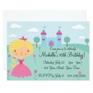 Hübsche Prinzessin Birthday Party Karte