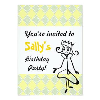 Hübsche Prinzessin Invitation (im Grün) 12,7 X 17,8 Cm Einladungskarte