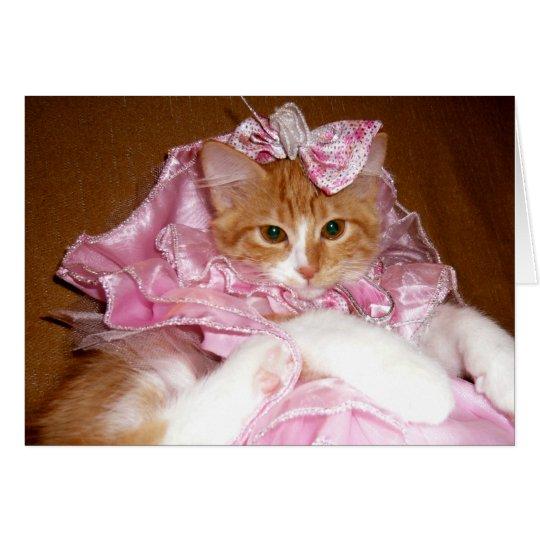 Hübsche Prinzessin Kitten - leere Anmerkungs-Karte Mitteilungskarte
