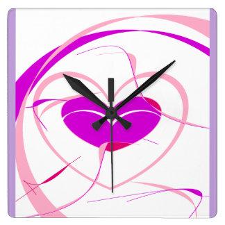 Hübsche Prinzessin Time Quadratische Wanduhr