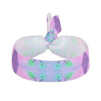 Hübsche rosa blaue Blume abstrakt Haarschleifen
