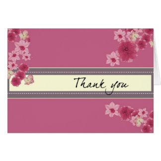 Hübsche rosa Blumenblätter Mitteilungskarte