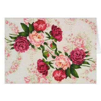 Hübsche rosa Rosen-große Karte