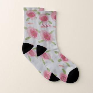 Hübsche rosa Rosen-Socken Socken