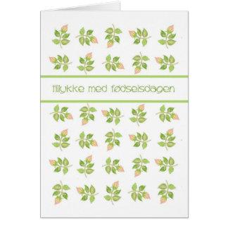 Hübsche rosa Rosenknospe-dänische Karte