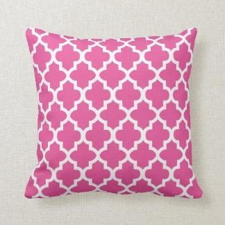 Hübsche rosa u. weiße marokkanische Farbe des Kissen