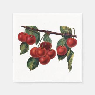 Hübsche rote Kirschniederlassungs-Sommer-Frucht Papierservietten