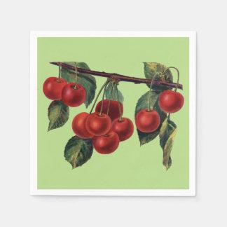 Hübsche rote Kirschniederlassungs-Sommer-Frucht Serviette