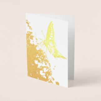 hübsche Schmetterlingsgoldfolienkarte Folienkarte