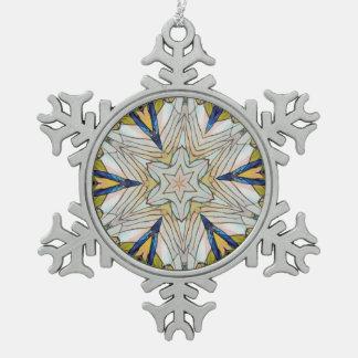 Hübsche Schneeflocke zentrierter Stern Schneeflocken Zinn-Ornament