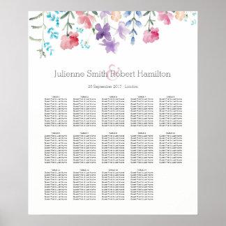 Hübsche setzende Tabellen der Wildblumen-| des Poster