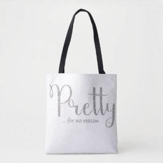 Hübsche silberne Glitter-Tasche Tasche