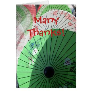 Hübsche Sonnenschirm-Anmerkungs-Karte -- freier Mitteilungskarte