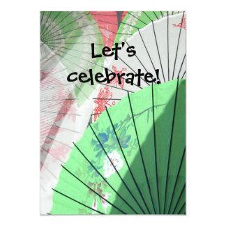 Hübsche Sonnenschirm-Einladungen -- fertigen Sie 12,7 X 17,8 Cm Einladungskarte