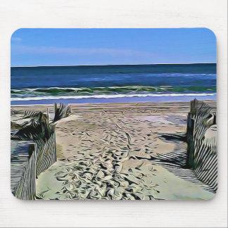 Hübsche Strand-Foto-Mausunterlage-Ozean-Wellen Mousepad