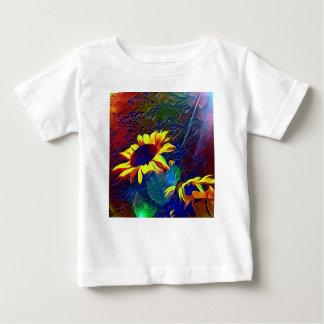 Hübsche vibrierende künstlerische Sonnenblumen Baby T-shirt
