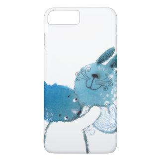 hübscher blauer Kasten der Kaninchen IPHONE iPhone 8 Plus/7 Plus Hülle