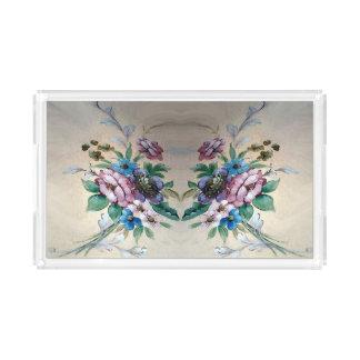 Hübscher Blumen-Acryl-Behälter Acryl Tablett