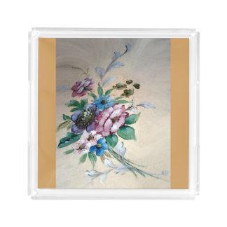 """Hübscher ` Blumenstrauß der Blumen"""" Acrylbehälter Acryl Tablett"""