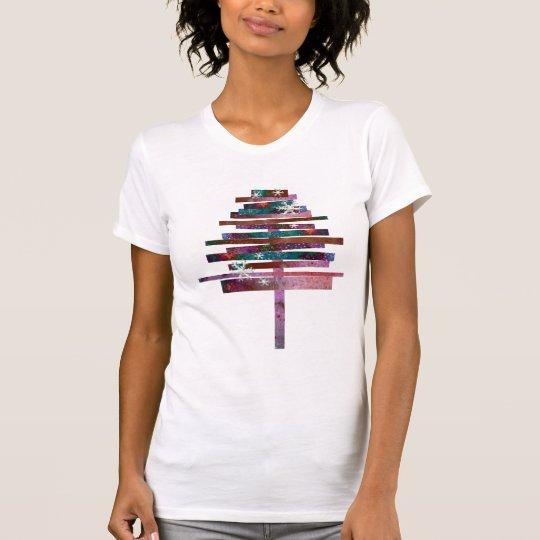 Hübscher bunter abstrakter Weihnachtsbaum T-Shirt