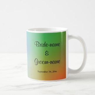 Hübscher bunter Hochzeits-Entwurf Tasse