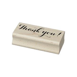 Hübscher Chic danken Ihnen Gummistempel