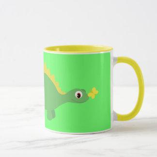 Hübscher Dinosaurier-Schmetterling u. grüne u. Tasse