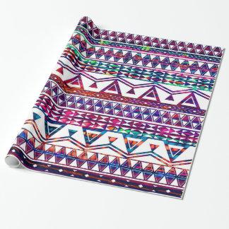 Hübscher Girly Stammes- aztekischer Entwurf Einpackpapier