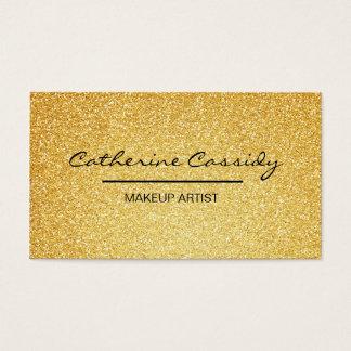 Hübscher GoldGlitter-Schein, Make-upkünstler Visitenkarte