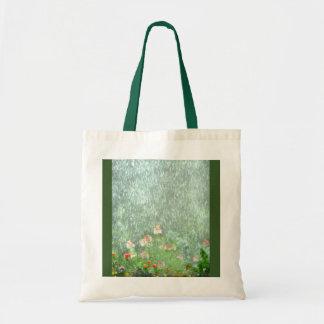 Hübscher grüner Blumen-Garten in der Tragetasche