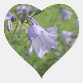 Hübscher Harebell-Blumen-Foto-Herzaufkleber Herz Sticker