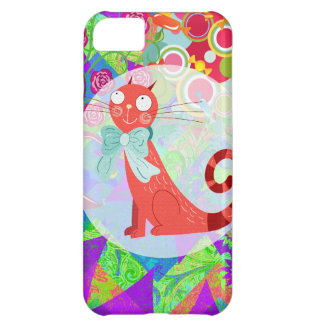 Hübscher Kitty-verrückte Katzen-Dame Gifts Vibrant iPhone 5C Hülle