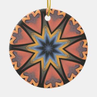 Hübscher Pfirsich-graues Sternexplosion-Muster Keramik Ornament