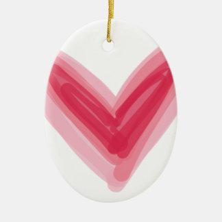 Hübscher rosa Herz-Druck, schöne Frühlings-Liebe Keramik Ornament