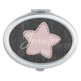Hübscher rosa Stern addieren Text-Spiegel Schminkspiegel