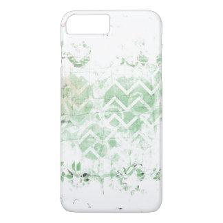 Hübscher Salbei und weißer Grunge abstrakt iPhone 8 Plus/7 Plus Hülle