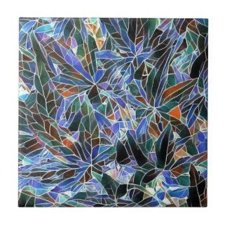 Hübscher schwarzer Lavendel-künstlerisches Fliese