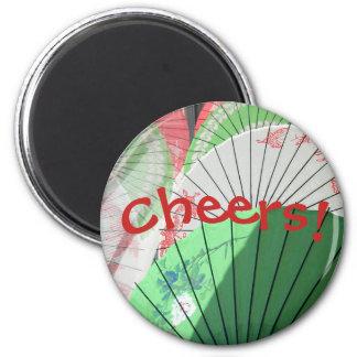 Hübscher Sonnenschirm-Kühlschrank-Magnet Runder Magnet 5,7 Cm