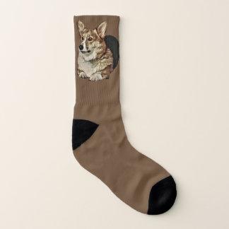 Hübscher Tricolor Corgi Socken