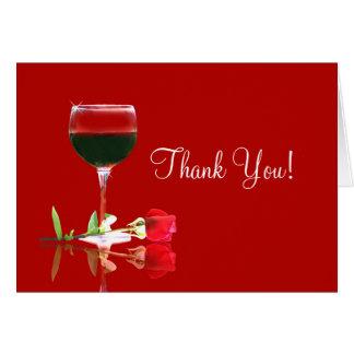 Hübscher Wein danken Ihnen zu kardieren, viel Karte
