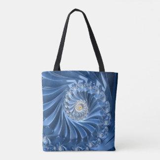 Hübsches blaues Fraktal Tasche