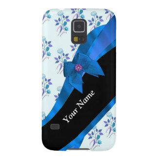 Hübsches blaues Vintages BlumenBlumenmuster Galaxy S5 Hüllen