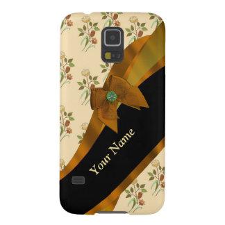 Hübsches braunes Vintages BlumenBlumenmuster Galaxy S5 Hülle