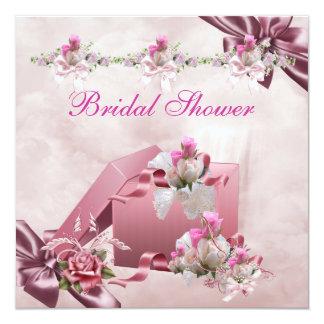 Hübsches Brautparty-weißes rosa Karte