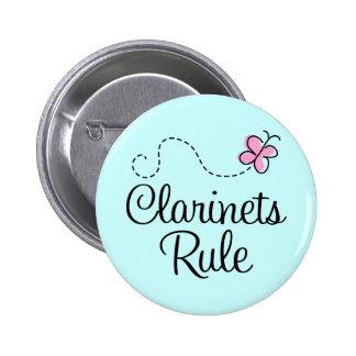 Hübsches Clarinets-Regel-Musik-Geschenk Runder Button 5,7 Cm
