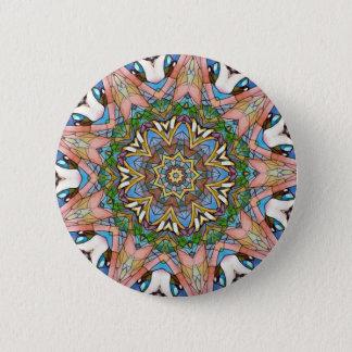 Hübsches cooles künstlerisches beflecktes runder button 5,1 cm