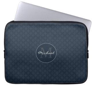 Hübsches dunkles Marine-Blau-personalisiertes Laptop Computer Schutzhüllen