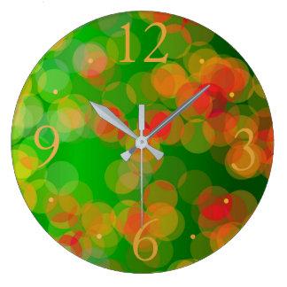 Hübsches grünes rotes GoldSpots> gemusterte Uhren